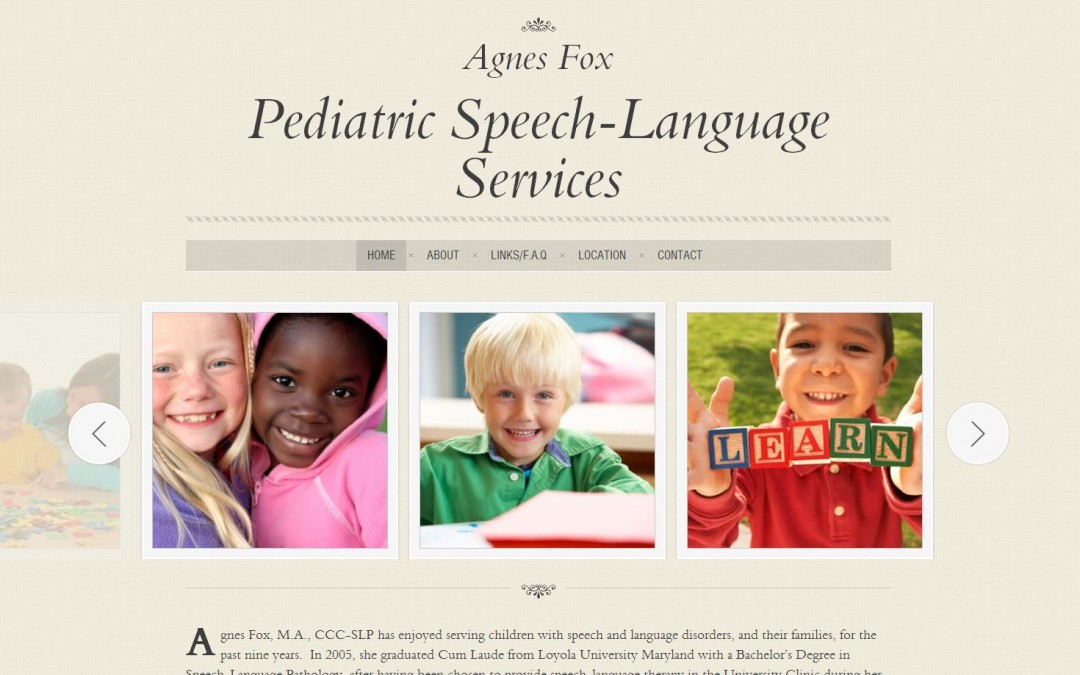 Agnes Fox Speech Therapy